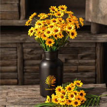 Cute 1 Bunch 20 Heads Sunflower Silk Artificial Flower Bouquet For Home Wedding Decoration Living Room Party Table Window Decor