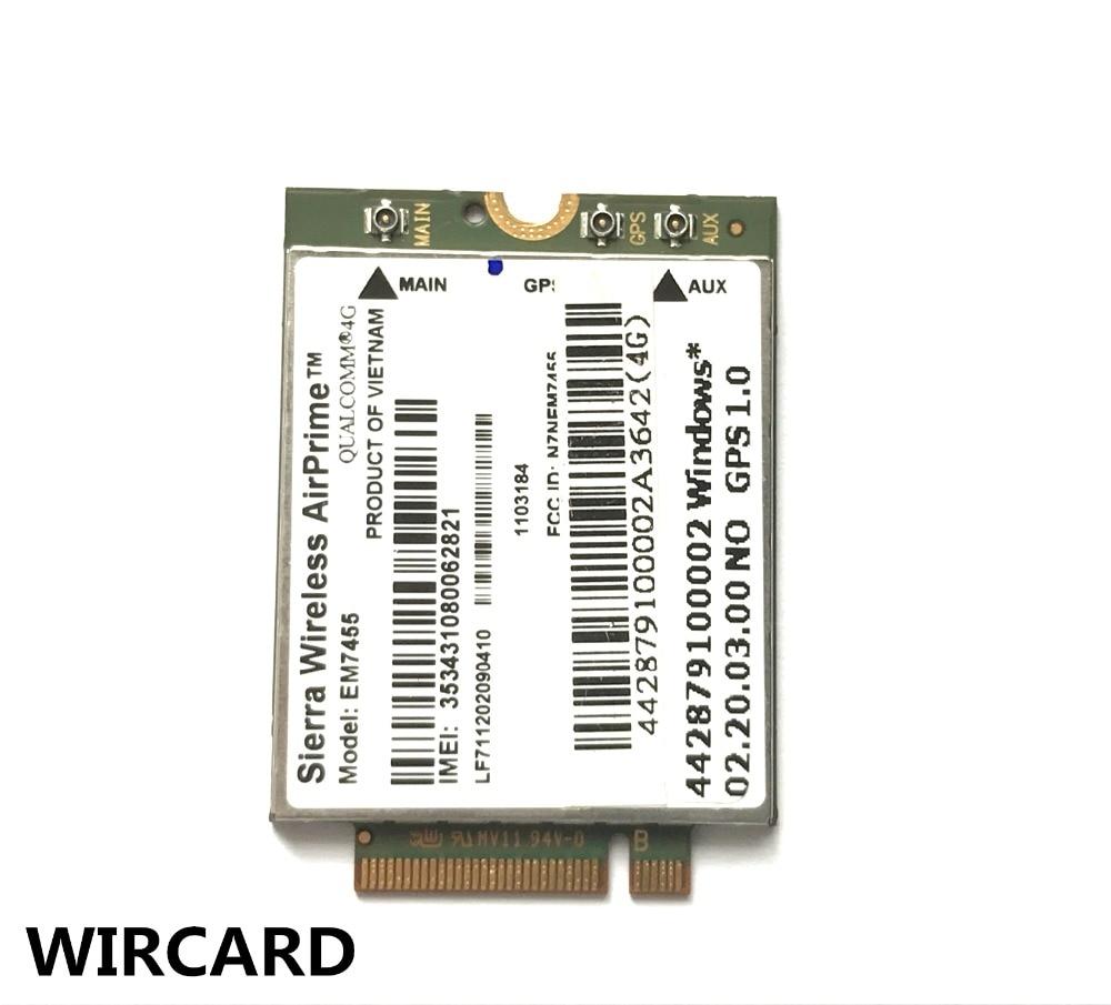EM7455 Sierra Wireless FDD/TDD LTE Cat6 4G MODULE 4G CARD For Laptop