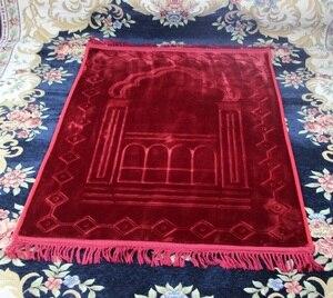 Image 2 - 80*125cm large soft flannel Prayer blanket MashaAllah Travelling Islamic Muslim Prayer Mat/ Rug/ Carpet Salat Musallah free ship