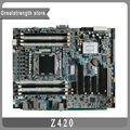 Para hp z420 workstation motherboard lga 2011 pblnu0kcy4m9pi 618263-001 619557-001 619557-501 619557-601 mainboard totalmente testado!!
