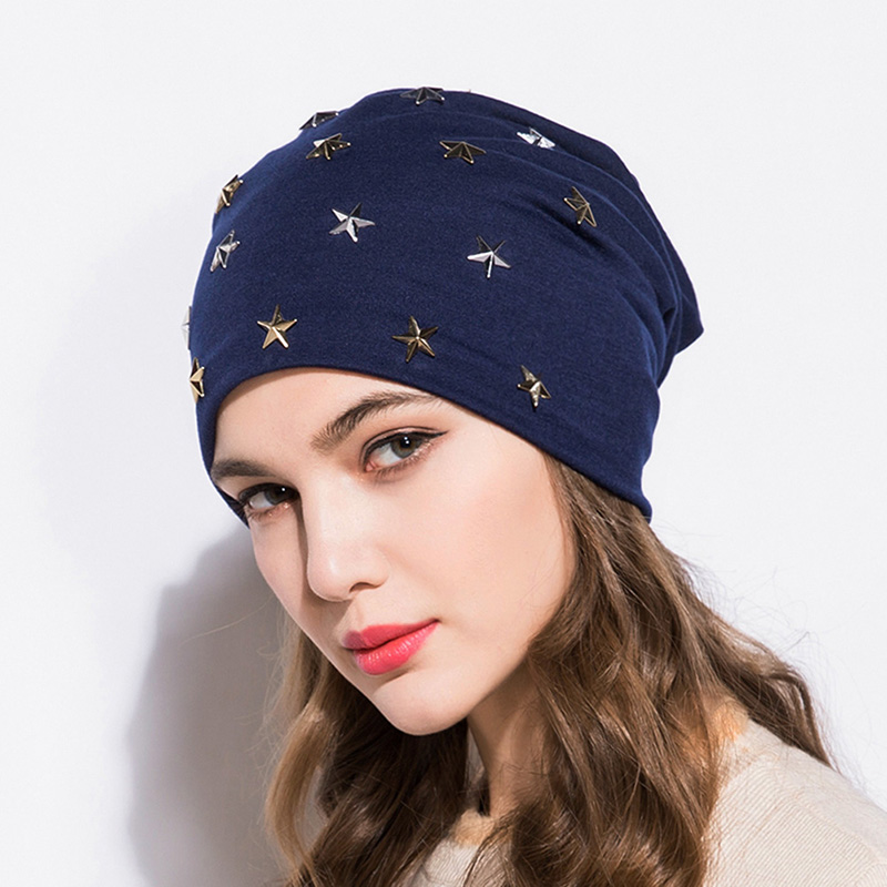 6be670f4a3f GZHILOVINGL 2018 New Arrival Spring Summer Candy Star Beanies For Women  Baggy Skullies Cap Girls Slouchy Hat Hip Hop Beanie Hats