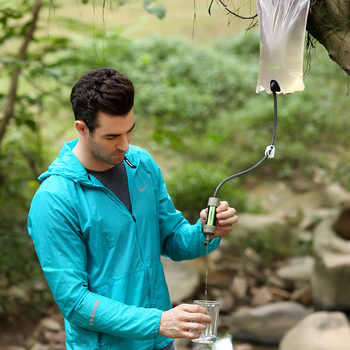 miniwell Gravity Water Purifier with Water Reservoir good for hiking,camping,survival and travel