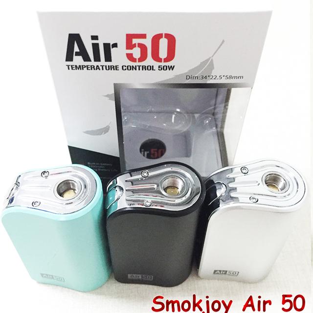 100% Cigarrillo Electrónico Smokjoy Aire 50 W TC/VW Mod Box 1200 mAh Construir en 7-50 w Tamaño Minúsculo SmokJoy aire 50 VS evod mega YY