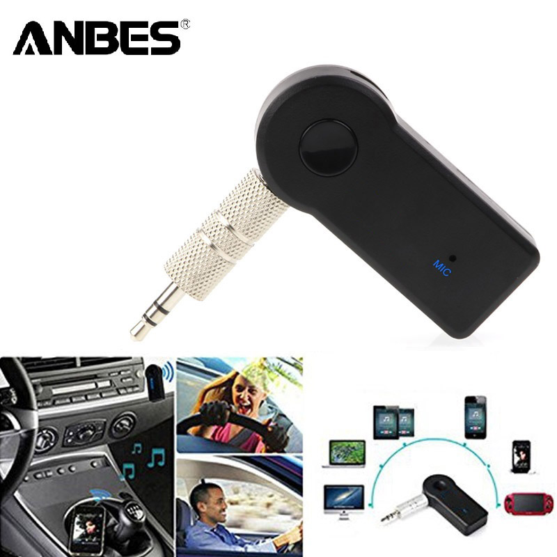 Bluetooth AUX Mini Audio Receiver Bluetooth-sändare 3,5 mm Jack Handsfree Auto Bluetooth Car Kit Musik Adapter AUX Bluetooth
