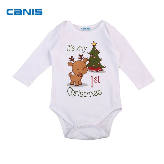 6d264ba47 Fashion Toddler Infant Newborn Baby Girl Boy Xmas Playsuit Romper Jumpsuit  Outfit Cotton Cute New Hot