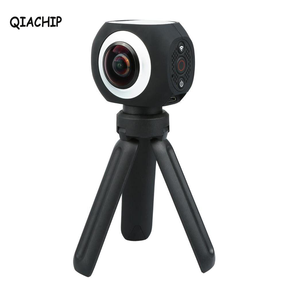 QIACHIP 360 Degree Panoramic VR Camera 12MP Wifi UHD 4K 2 7K 1080P Wide Angle Fisheye