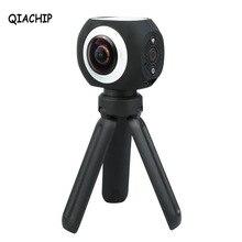 QIACHIP 360 Grad Panorama VR Kamera 12MP Wifi UHD 4 Karat 2,7 Karat 1080 P Weitwinkel Fisheye-objektiv Mini Sport Action Kamera App Steuer