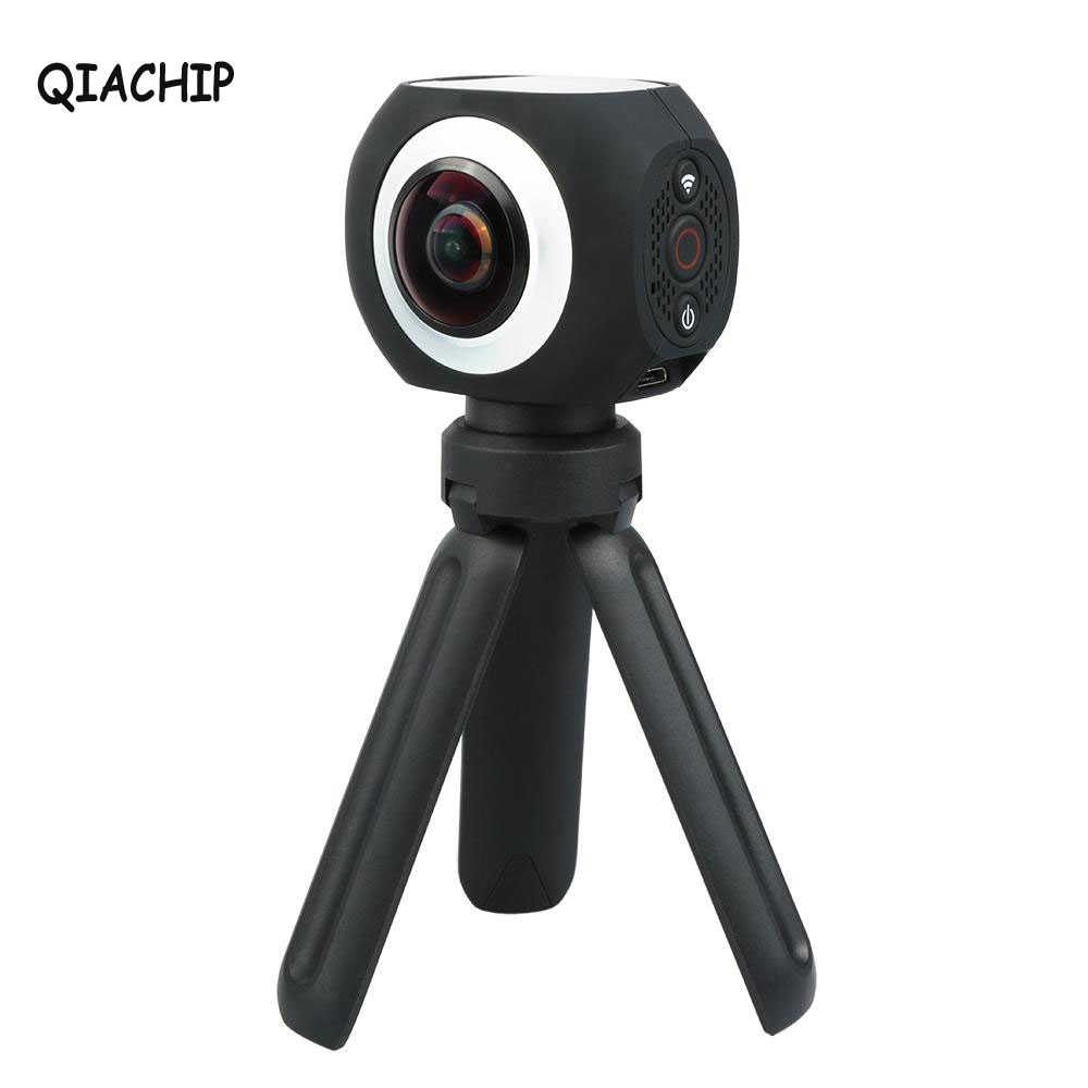 QIACHIP 360 Degree Panoramic VR Camera Banne Wifi UHD 4K 15FPS 2 7K 25FPS 1080P Wireless