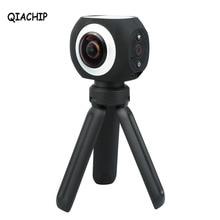 Qiachip 360 градусов панорамный VR Камера Banne Wi-Fi UHD 4 К/15FPS 2.7 К/25FPS 1080 P Беспроводной мини Спорт действий Камера приложение Управление