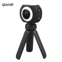 QIACHIP 360 Degree Panoramic VR Camera 12MP Wifi UHD 4K 2.7K 1080P Wide Angle Fisheye Lens Mini Sport Action Camera App Control