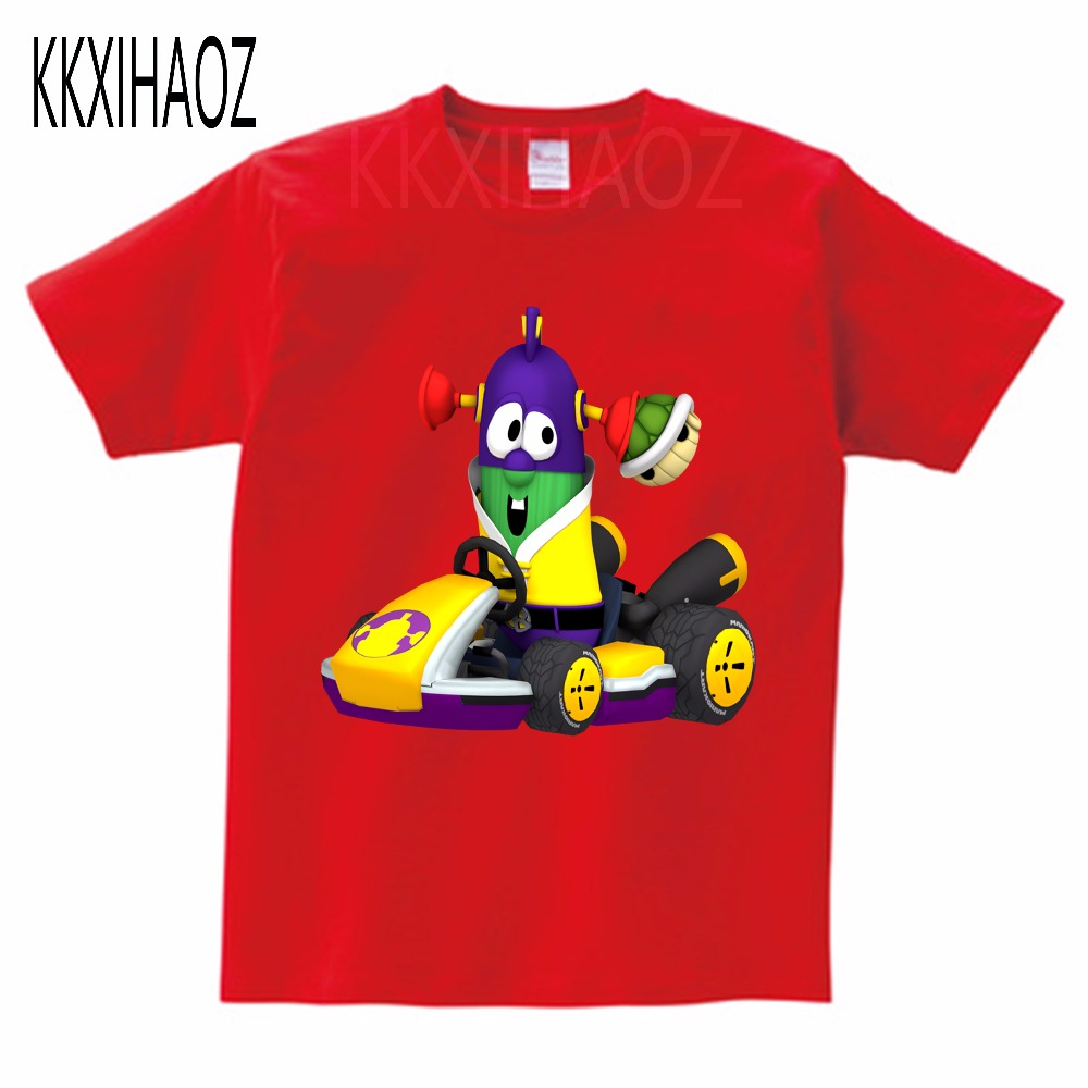 VeggieTales Larry The Cucumber Short Sleeve T Shirt 2019 Newest Boys and Girls summer Pure cotton Short sleeve Tshirt MJ in T Shirts from Mother Kids