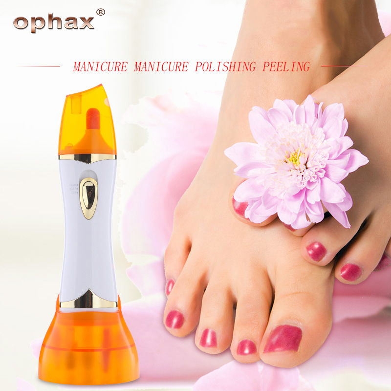 OPHAX brand smooth strong electric pedicure tool foot care cleaning exfoliating hand foot care tool electric manicure products