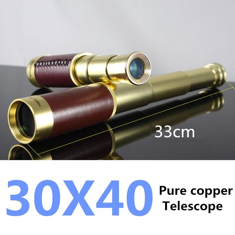 30X40 Большой Королевский Темно-Монокуляр высокое качество Портативный телескоп капитан Пираты Карибского моря морских подзорная труба лату...