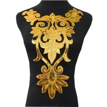 11 colors Sequined flower big size iron on appliqued patches