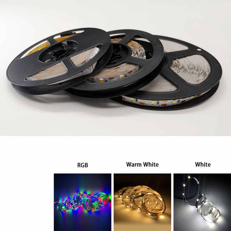 USB LED RGB Strip TV 50CM 1M 2M 3M 4M 5M SMD3528 Light 5 v/6 V Strip Natal Dekorasi Meja Lampu Tape untuk TV Pencahayaan Latar Belakang