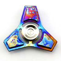 Titanium Alloy Fidget Spinner Handspinner Hand Finger Toy Metal Rainbow Colorful Stable Christmas Toys For Children