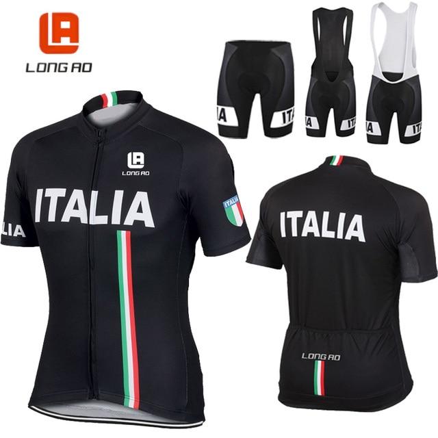 bb3ba97cc LONG AO Italian flag cycling clothing cycling jersey summer short sleeve Cycling  jerseys Bike sports clothing Cycling clothes