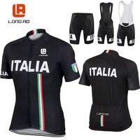 Longao 2016 Italian Flag Man Women Summer Short Sleeve Cycling Jerseys Bike Sports Clothing Bicycle Clothes