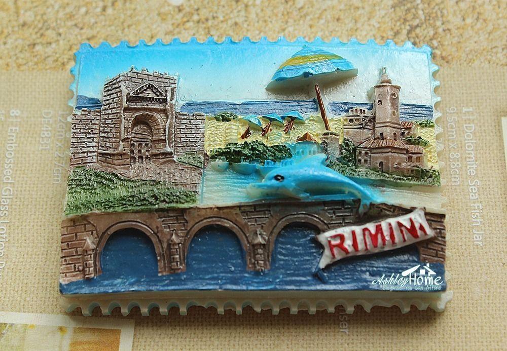 Italy Rimini Tourist Souvenir 3D Resin Refrigerator Fridge Magnet Worldwide GIFT
