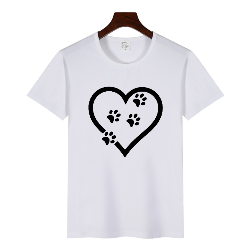 2019 Paw Heartbeat Lifeline <font><b>Dog</b></font> Cat Women <font><b>Tshirt</b></font> Halajuku Casual Funny T Shirt for <font><b>Unisex</b></font> Lady Girl Top Tees Hipster image