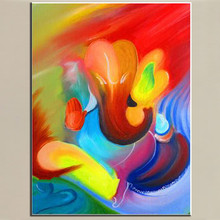 profession Artist Handmade Pop colorful Oil Painting On Canvas Modern Water Abstract for Living Room Wall Hang