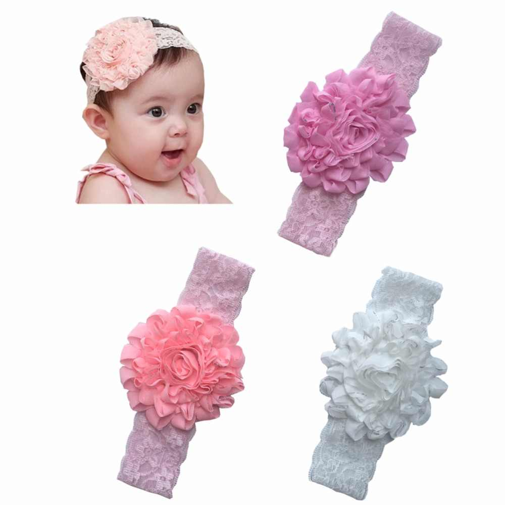1pcs/lot Girl Hair Bands Lace Flower Headbands  Hair Band Kids hair accessories fascia capelli haaraccessoires meisje  A006-3