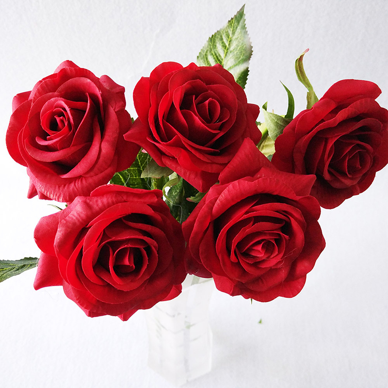 Health & Beauty Discreet 1pcs Fresh Red Rose Artificial Flowers Real Touch Rose Flowers Home Decorations For Valentines Day Wedding Party Or Birthday Other Mobility & Disability