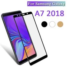 Koruyucu cam Samsung A7 2018 A750 A730 ekran koruyucu temperli cam üzerinde Galaxy A 7 7a A72018 750 730 cam güvenlik filmi