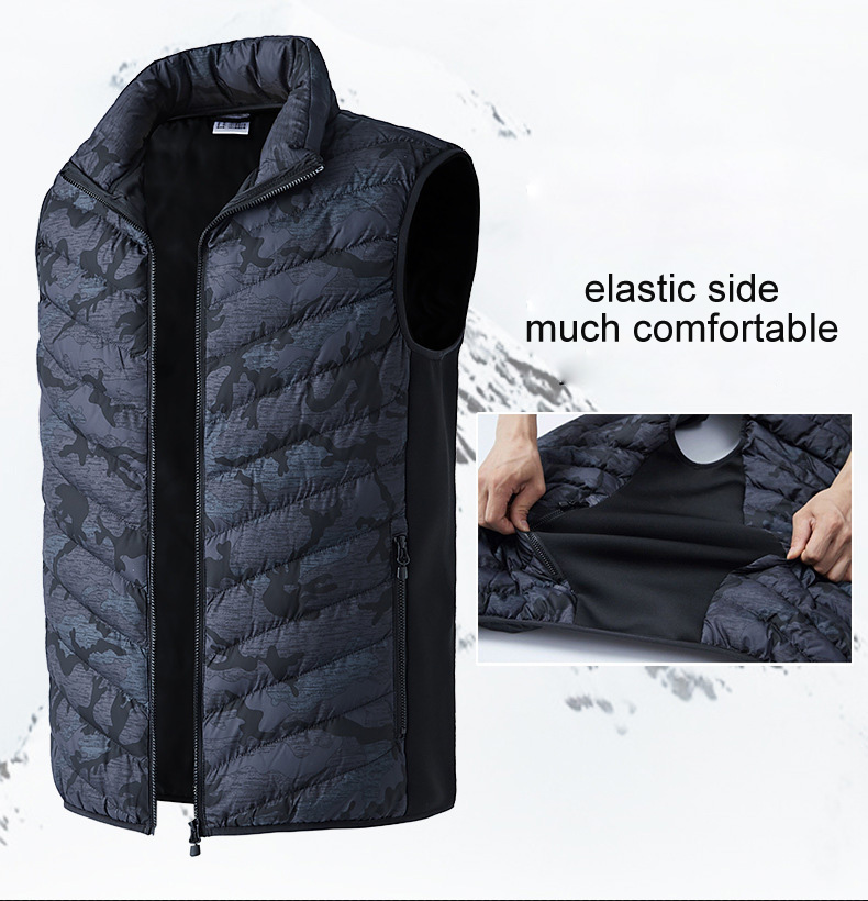 Image 4 - LOMAIYI Mens USB Heated Vest Men Winter Camouflage Sleeveless 