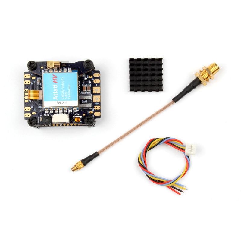 Holybro Kakute PDB OSD F4 AIO Flight Controller Atlatl HV 5.8G 40CH Raceband Transmitter For RC Camera Dron FPV Frame Part f3 v4 flight control board aio 25mw 200mw 600mw switchable transmitter osd bec pdb current sensor