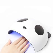 Симпатичные панды 36 Вт УФ-лампы светодио дный лампы Сушилка для ногтей двойной Мощность лампы для ногтей УФ-гели для ногтей USB зарядка Nail Art инструменты