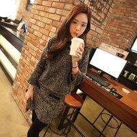 DoreenBow New Autumn Winter Style Wool Cotton Mini Dress Women Vintage Long Sleeve Pockets Slim Gray