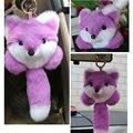 Imagem física do Rex Rabbit Fur Pom Pom Keychain Bonito Carro Ornamentos Pingente de Chave Cadeia Saco Pequenos Presentes Animal Fluffy 2KC35