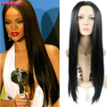 Long Straight Synthetic Wigs for Black Women African American Hair Braiding Styles Ladies Wigs Pullip Doll Synthetische Pruiken