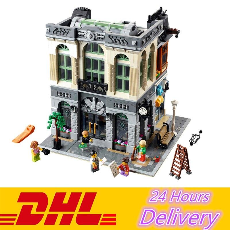 ФОТО LEPIN 15001 Brick Bank Model Building Blocks Bricks Kits Toy Compatible With 10251