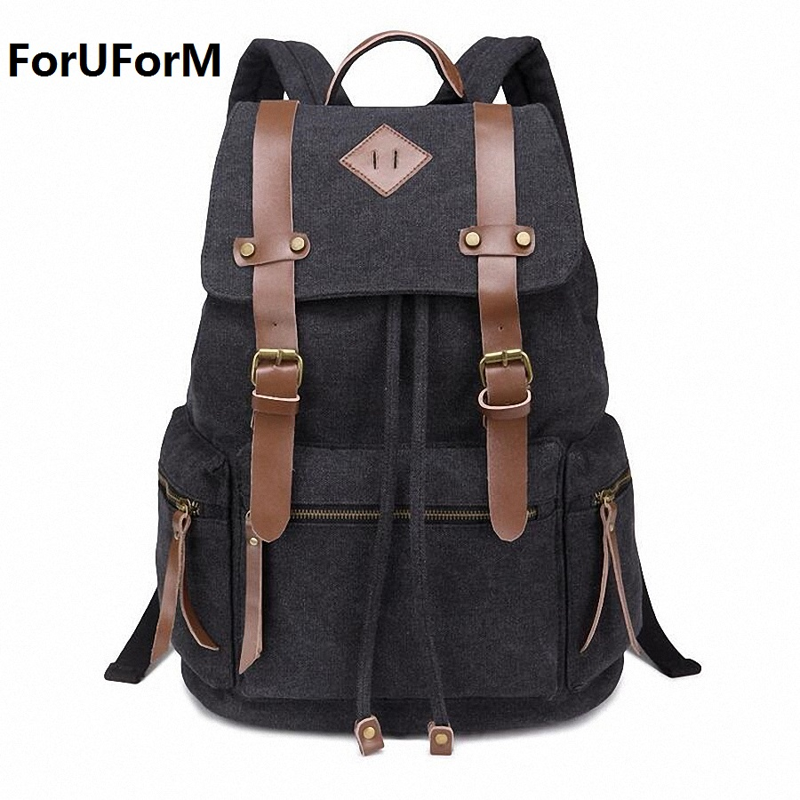 New Fashion arcuate shoulder strap solid casual bag male backpack school bag canvas bag designer backpacks for men women LI-1397 2016 new sports men and women backpacks fashion men s backpack unsix men shoulder bag brand design ladies school backpack