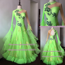 Flamenco Standard Dress Ballroom Good Quality Smooth Waltz Dresses Dancewear salsa style dresses