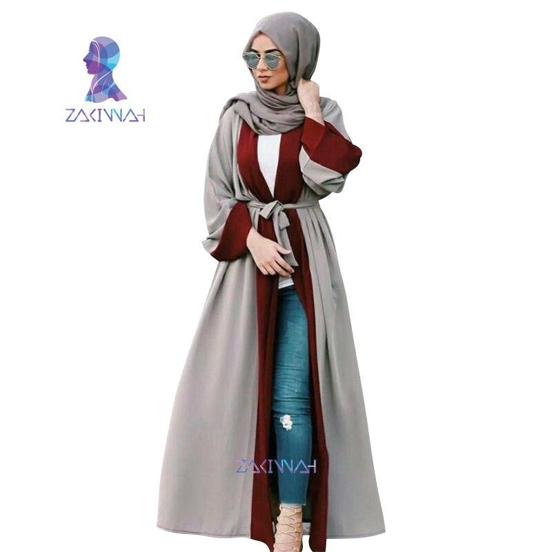 Zakiyyah Dubai Mellemøsten Long Robe Muslim Women's Fashion-4822
