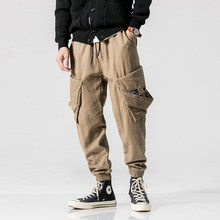 цены Casual Cotton Embroidery Letter Pockets Work Male Harem Pencil Pants 2018 Autumn Japan Safari Style Loose Men Joggers Sweatpants