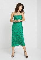 Рыбий хвост платье для женщин 100% шелк новый 2019 изумрудно зеленый пикантные Длинные Стиль