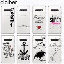 Ciciber For Samsung Galaxy S9 S10 S8 Plus S10e Cover Soft TPU Phone Cases S5 S7 S6 Edge mini Words amor Portuguese Fundas