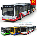 1:10 Alloy Pull back Bus model,Diecast metal cars,Double bus,,Diecasts & Vehicles toys,free shipping