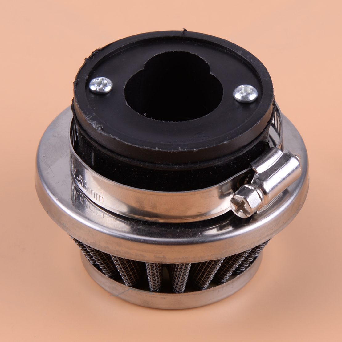 CITALL High Quality Motorcycle Air Filter Stack Metal Interior Accessories Fit For 47cc 49cc Mini Moto ATV Pocket Rocket Bike