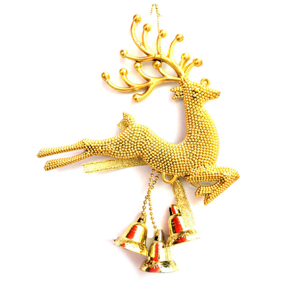 1 pcs Reindeer Christmas Tree top decoration Gold and Sliver Colors Hot Sale Chirstmas Decorations Kerst Noel Drop Shipping