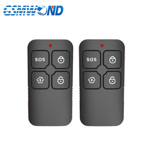 Free Shipping 2pcs Wireless Black Plastic Remote Control 433MHz Key Telecontrol for PSTN or GSM Home