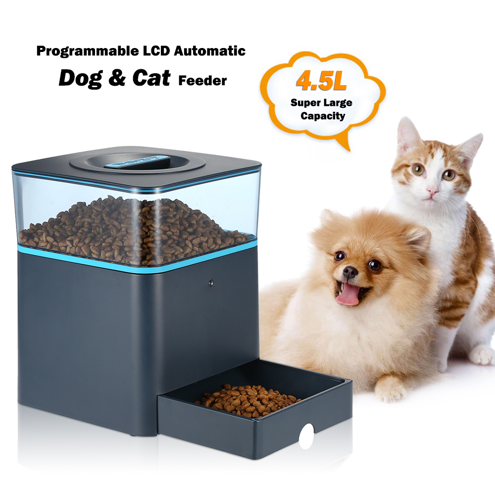 4 5l Automatic Lcd Pet Dog Feeder With Voice Reminding And