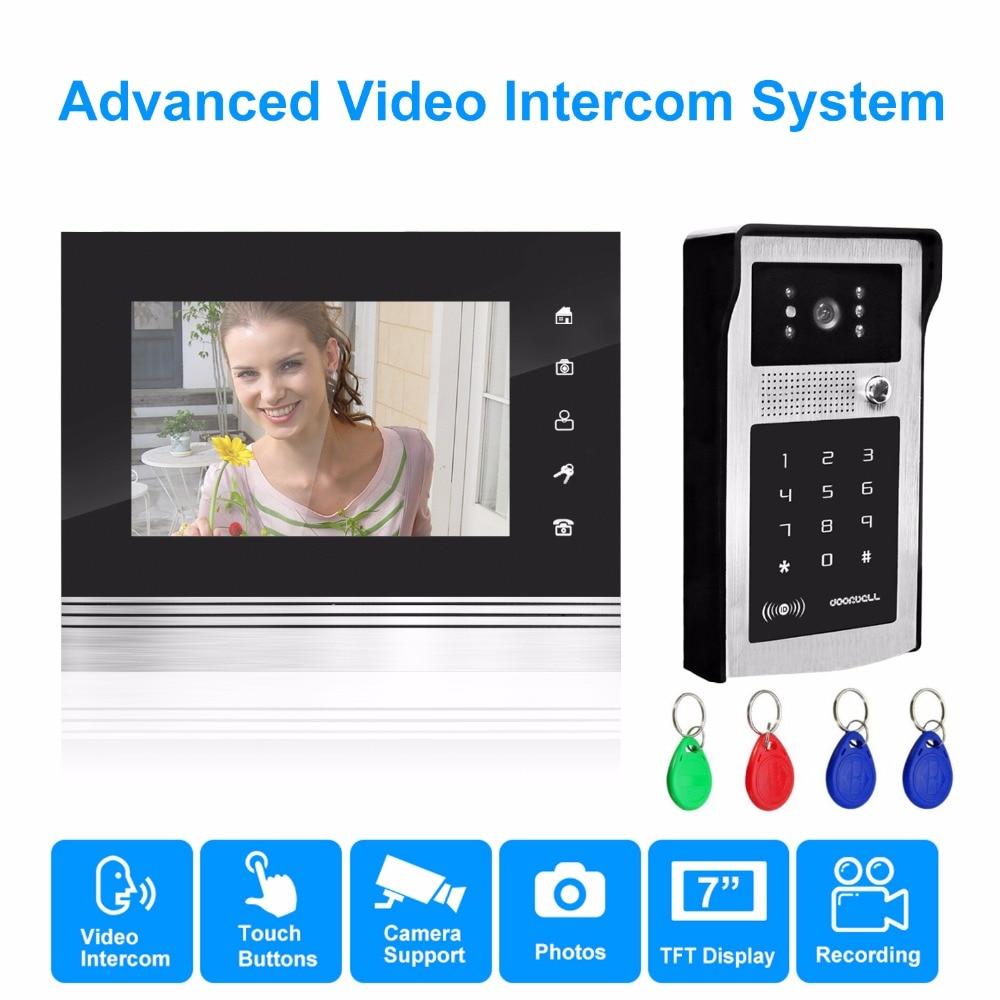 homsecur 7inch Touchscreen Monitor video intercom video doorphone speakerphone intercom  ...