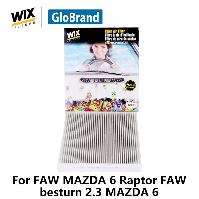 Wix не содержащий карбон кабины фильтр WP9186 для FAW Mazda 6 2.0L Raptor 2.0L FAW Besturn 2.0L 2.3 Mazda 6 автозапчасти