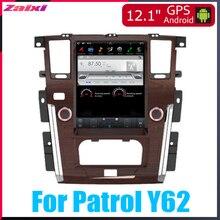 ZaiXi Android Car Multimedia GPS For Nissan Patrol Y62 2010~2019 Auto AC Radio vertical screen tesla Video DAB+