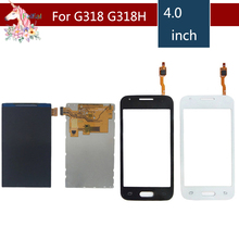 4.0 For Samsung Galaxy DUOS Trend Lite 2 G318 G318H LCD Display With Touch Screen Digitizer Sensor Replacement g garibaldi duos gradues pour 2 flutes op 145
